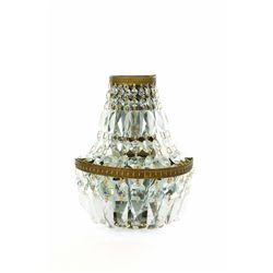 Club 33 Crystal lighted wall sconce