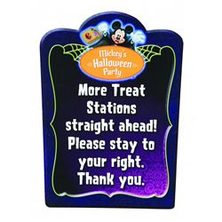 Mickey's Halloween Party Directional Sign