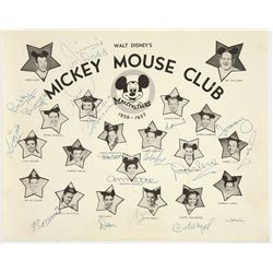 Mickey Mouse Club Publicity photo with (15) signatures