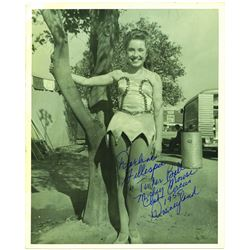 1955 Publicity Photo and letter set for Mouseketeer Darlene Gillespie as Tinker Bell