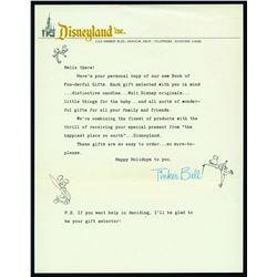 Tinker Bell Souvenir Catalog Letter