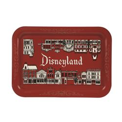 Disneyland serving tray images of Main street on front