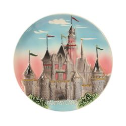 Disneyland 3-D decorative wall plates.