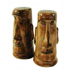 Disneyland Adventureland Moa Tiki Salt & Pepper Shakers