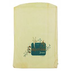 "Early  Disneyland Emporium Shopping Bag featuring ""Tinkerbell""  Size 13.25"" x 9"""