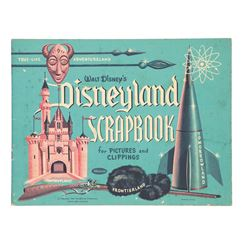 True-Life Disneyland Scrapbook by Whitman 1955, unused