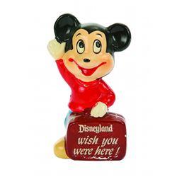 Plaster Mickey souvenir figurine