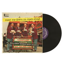 Meet Me Down on Main Street, The Mellomen Barber Shop Quartet LP Record