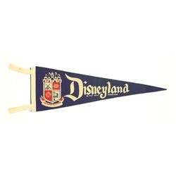 Disneyland Magic Kingdom blue felt Pennant