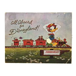 Donald Duck ALL ABOARD FOR DISNEYLAND Dial Postcard