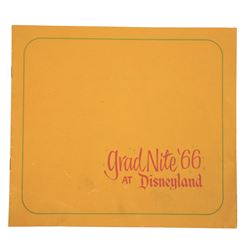 Disneyland Grad Night 1966 Program.
