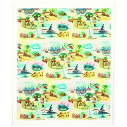 Disneyland Gift wrapping paper sheet.