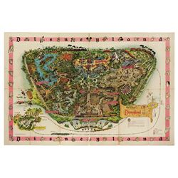 1961 DISNEYLAND Sam McKim Souvenir Map