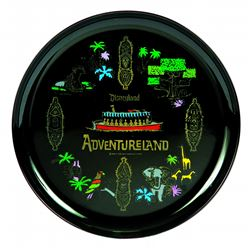 Adventureland plate in black melmack