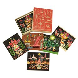 New York World's Fair MARY BLAIR It's A Small World  Concept Art Note Card  Set