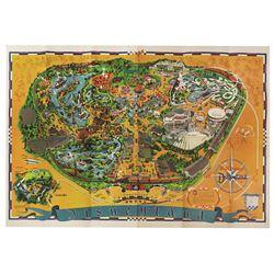 1966 Disneyland Souvenir Map