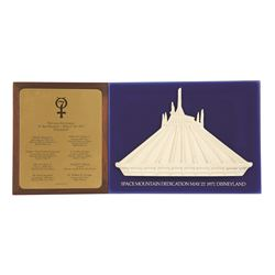 Space Mountain opening day presentation piece for the 7 astronauts there 1977