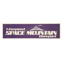 Space Mountain opening bumper sticker