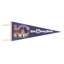 Walt Disney World 10th Anniversary Felt Pennant