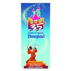 Disneyland pop-up map 35th anniversary