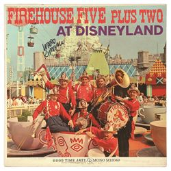 Firehouse Five Plus Two at Disneyland Record signed by Ward Kimball