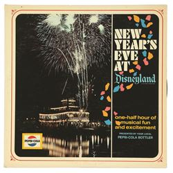 1965 New Year's Eve at Disneyland LP Promotional Radio-Play Record by Pepsi Cola