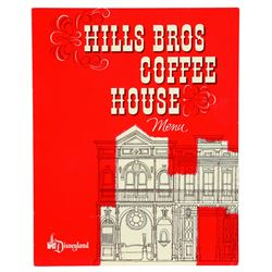 Hills Bros Coffee House Menu, excellent condition.