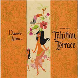Tahitian Terrace Souvenir Menu.
