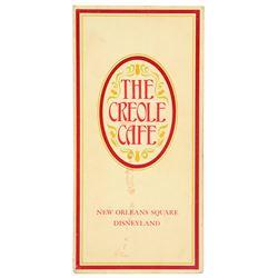 Creole Café menu (mat finish)