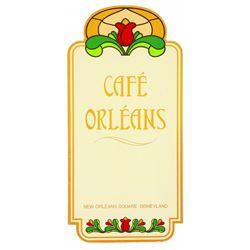 Café Orleans menu