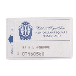 Club 33 Membership Card