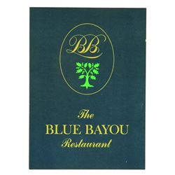 Blue Bayou souvenir menu (blue)