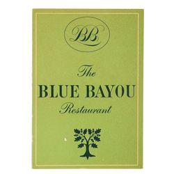 Blue Bayou Souvenir Menu