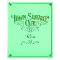 Town Square Cafe menu (blue)