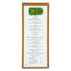 Lost Bar Menu