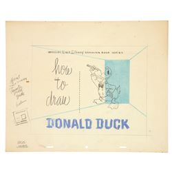 "Original artwork for the cover of ""How To Draw Donald Duck"""