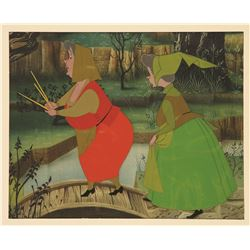 "Original production cel of Fairies from ""Sleeping Beauty""."
