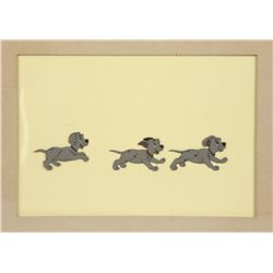 "Original Production Cel of Puppies from ""101 Dalmatians"""