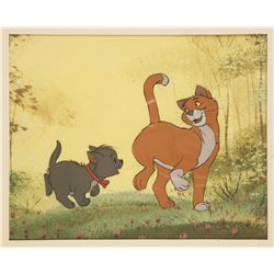 "Original Production Cel of O'Malley and Berlioz from ""The Aristocats"""
