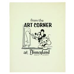Original Printer Proof for Art Corner Logo