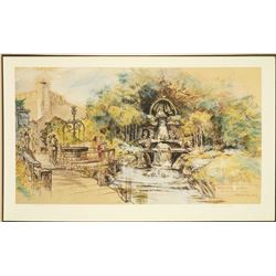 "John Hench Signed Disneyland ""Snow White Grotto"" . ."