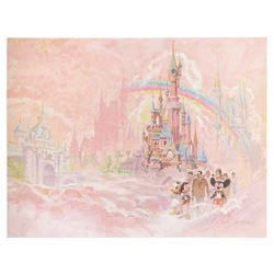 "Ed French ""Four Disney Castle"" Poster"