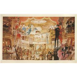 Signed John De Cuir Horseshoe Revue Lithograph