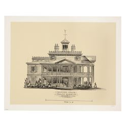 Haunted Mansion South Elevation Limited Edition lithograph.