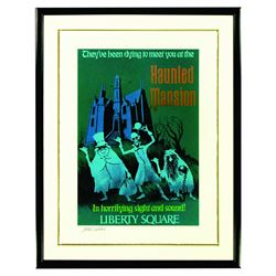Rare Marc Davis Signed Walt Disney World Haunted Mansion Giclee