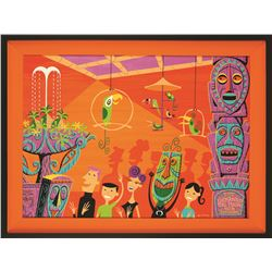 Original Painting by Shag (Josh Agle) for  40th Anniversary of the Enchanted