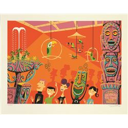 "Shag limited edition Serigraph ""40th Anniversary of the Enchanted Tiki Room"""