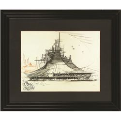 John Hench Space Mountain Limited Edition Print.