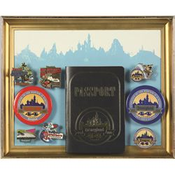 "Disneyland 44 Years ""Conquering the Four Mountains of Disneyland"" pin set"