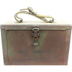 Metal ammo box for 50 caliber M17.